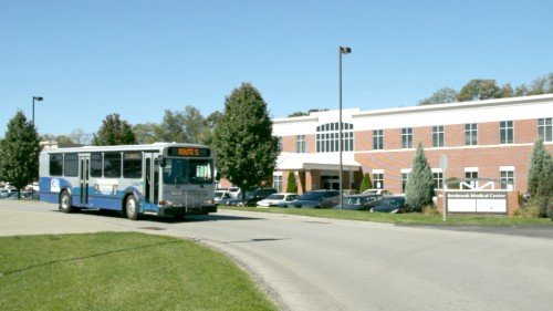 Bus at Benbrook Medical