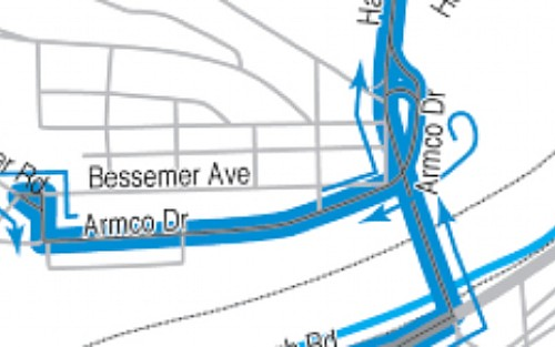 Bessemer Avenue stops move to Armco Drive